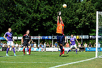 SURHUISTERVEEN - Voetbal, T Fean 58 - FC Groningen, voorbereiding seizoen 2018-2019, 07-07-2018,  redding doelman van der Meer