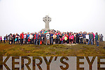 Over 150 people completed the Pilgrim Trail to the top of Cnoc na dTobar on Sunday for mass with Bishop Ray Browne & Canon Larry Kelly after restoration work had been carried out over the past week.