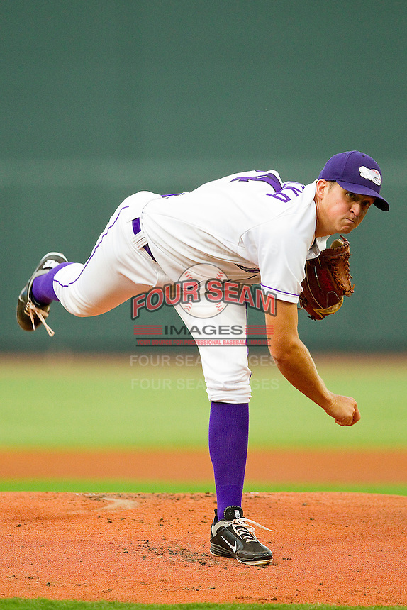 Starting pitcher Jake Petricka #34 of the Winston-Salem Dash in action against the Wilmington Blue Rocks at BB&T Ballpark on August 3, 2011 in Winston-Salem, North Carolina.  The Blue Rocks defeated the Dash 6-2.   Brian Westerholt / Four Seam Images