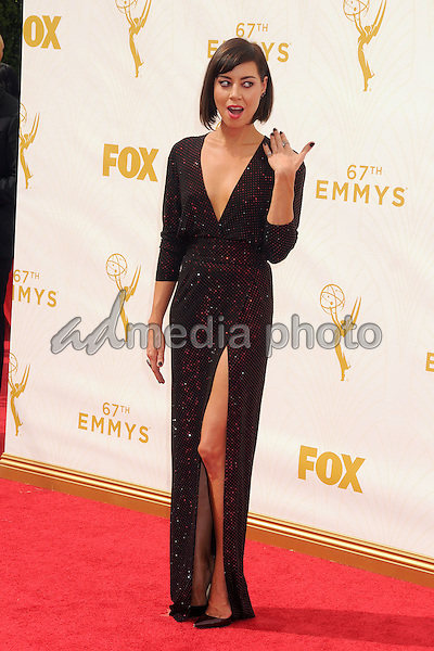 20 September 2015 - Los Angeles, California - Aubrey Plaza. 67th Annual Primetime Emmy Awards - Arrivals held at Microsoft Theater. Photo Credit: Byron Purvis/AdMedia