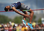 Centennial's Anyah Nutter cleared 6-foot, six-inches to place second in the Division I boys high jump the NIAA state track championships at Carson High, in Carson City, Nev., on Saturday, May 24, 2014. (Las Vegas Review-Journal, Cathleen Allison)