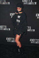 BUENA PARK, CA - SEPTEMBER 29:  Vanessa Hudgens at Knott's Scary Farm & Instagram's Celebrity Night at Knott's Berry Farm in Buena Park, California on September 29, 2017. Credit: Faye Sadou/MediaPunch
