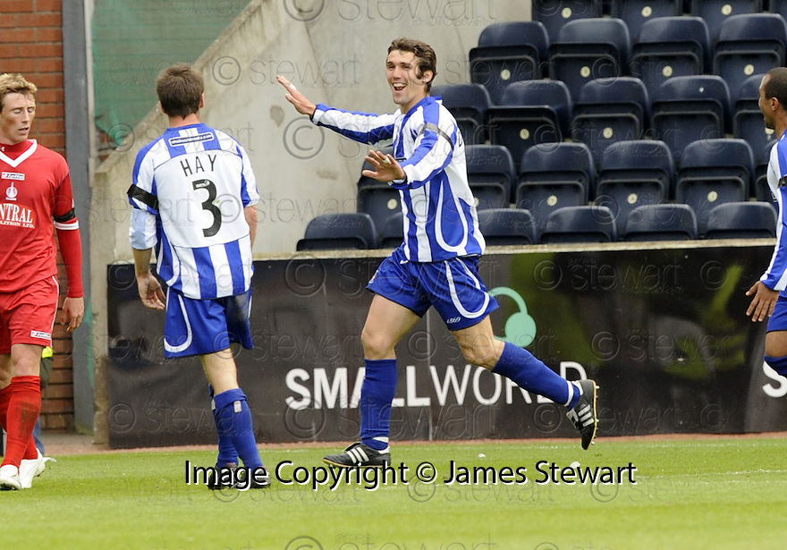 17/05/2008   Copyright Pic: James Stewart.File Name : sct_jspa16_kilmarnock_v_falkirk.PAUL DI GIACOMO CELEBRATES AFTER HE SCORES KILMARNOCK'S SECOND.James Stewart Photo Agency 19 Carronlea Drive, Falkirk. FK2 8DN      Vat Reg No. 607 6932 25.Studio      : +44 (0)1324 611191 .Mobile      : +44 (0)7721 416997.E-mail  :  jim@jspa.co.uk.If you require further information then contact Jim Stewart on any of the numbers above........