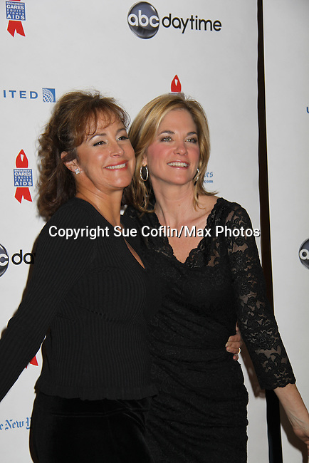 One Life To Live Hillary B. Smith & Kassie DePaiva at ABC Daytime Salutes Broadway Cares/Equity Fights Aids - The Grand Finale Celebration on March 13, 2011 with a musical show at Town Hall, New York City, New York followed by an after party at the New York Marriott Marquis. (Photo by Sue Coflin/Max Photos)