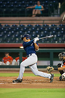 AZL Brewers right fielder Leugim Castillo (57) at bat against the AZL Giants on August 15, 2017 at Scottsdale Stadium in Scottsdale, Arizona. AZL Giants defeated the AZL Brewers 4-3. (Zachary Lucy/Four Seam Images)