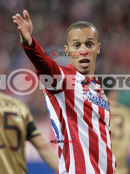 Atletico de Madrid's Joao Miranda during Champions League 2013/2014 match.March 11,2014. (ALTERPHOTOS/Acero)