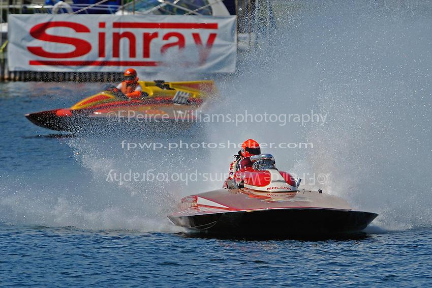 "Roger LaPierre, GP-1001 ""Miss Dinomytes"" (1986 Grand Prix class Lauterbach hydroplane) and H-62 ""Tool Crib"" 7 Litre Div I Ron Jones cabover hydroplane"