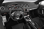 High angle dashboard view of a 2010 - 2014 Audi TT RS Convertible.