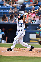 Asheville Tourists third baseman Bobby Wernes (12) swings at a pitch during a game against the Rome Braves at McCormick Field on June 25, 2017 in Asheville, North Carolina. The Braves defeated the Tourists 7-2. (Tony Farlow/Four Seam Images)