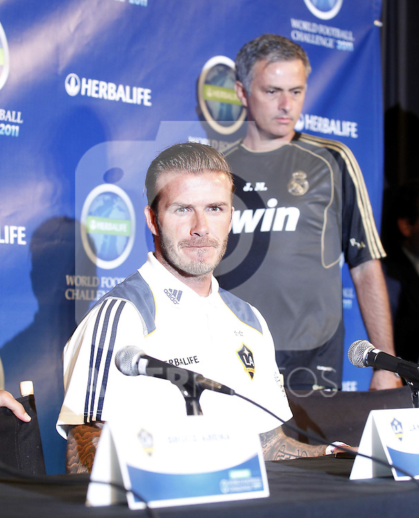 Real Madrid first train at pre season stage in Los ANgeles, California on July 12th 2011. David Beckham, Jose Mourinho...Photo: Tresmu / ALFAQUI