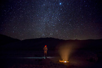 Stars are abundant at Eureka Dunes at Death Valley National Park, California