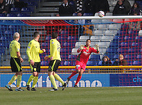 Chris Dilo moves across to save in the Inverness Caledonian Thistle v St Mirren Scottish Professional Football League Premiership match played at the Tulloch Caledonian Stadium, Inverness on 29.3.14.