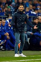 Gelsenkirchen, Germany, 1. Football- BL,  match day 19,<br />FC Schalke 04 - Hannover 96 1-1am <br />21. 01. 2018  in Veltins -Arena auf Schalke  in Gelsenkirchen<br />Trainer Domenico TEDESCO (S04)