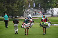 Shane Lowry (IRL), Thorbjorn Olesen (DEN), and Henrik Stenson (SWE) head down 7 during round 3 of the World Golf Championships, Mexico, Club De Golf Chapultepec, Mexico City, Mexico. 2/23/2019.<br /> Picture: Golffile | Ken Murray<br /> <br /> <br /> All photo usage must carry mandatory copyright credit (© Golffile | Ken Murray)