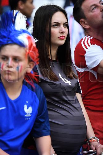 Tifosa Albania con pancione Supporters Marseille 15-06-2016 Stade du Velodrome Football Euro2016 France - Albania / Francia - Albania Group Stage Group A Foto Massimo Insabato / Insidefoto