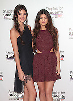 UNIVERSAL CITY, CA - JULY 22: Kendall Jenner and Kylie Jenner at the 2012 Staples For Students 'Party' For A Cause hosted by Staples, DoSomething.org and Bella Thorne at the Globe Theatre at Universal Studios on July 22, 2012 in Universal City, California © mpi21/MediaPunch Inc. /NortePhoto.com*<br />
