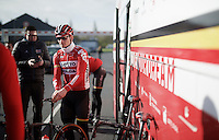 André Greipel (DEU/Lotto-Soudal) before recon of the 114th Paris - Roubaix 2016