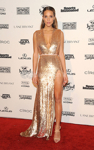 NEW YORK, NY - FEBRUARY 16: Hannah Davis attends the 2016 Sports Illustrated Swimsuit  Launch at the Time Life Building  on February 16, 2016 in New York City.  Credit: John Palmer/MediaPunch