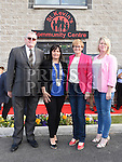 Finnan McCoy, Dolores Minogue, Mairead McGuinness and Mary O'Neill, at the official opening of St. Kevin's Community Centre in Phillipstown. Photo:Colin Bell/pressphotos.ie