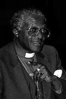 Archbishop Desmond Tutu of South Africa speaking at Harvard University January 10, 1986