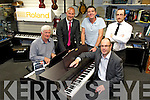 Cullotys Expert the Mall Tralee Launching the New Roland HP range of digital pianos Pictured Nick Moloney, Brendan Culloty, Owner/Manager, Aidan Pierse, Roland Sales Manager, Simon Leonardson, Sales Person, Richard Patt, Area Manager for Roland UK