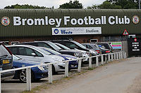 General view of the main entrance at Bromley FC during Bromley vs Fulham, Friendly Match Football at the H2T Group Stadium on 6th July 2019