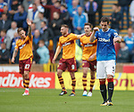 Lee Wallace sorting out the defensive positioning after Motherwell score