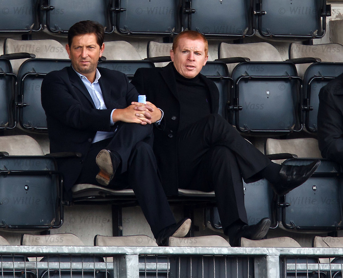 Neil Lennon and Garry Parker