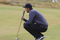 Ashley Chesters (ENG) on the 1st green during Round 1 of the Dubai Duty Free Irish Open at Ballyliffin Golf Club, Donegal on Thursday 5th July 2018.<br /> Picture:  Thos Caffrey / Golffile