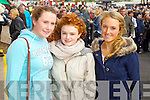 Pictured at Listowel Races on Sunday, from left: Annemarie Curtin (Listowel), Cassandra Cremin (Lisselton) and Niamh Culhane (Ballylongford)..