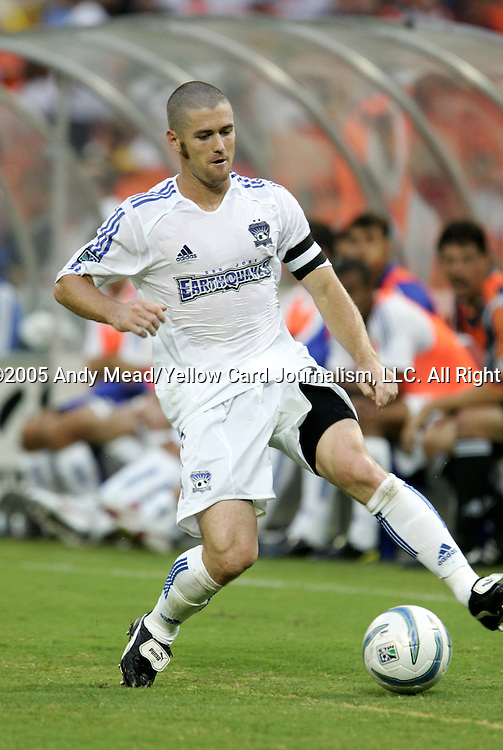 15 July 2005: Wade Barrett. DC United defeated the San Jose Earthquakes 3-0 at RFK Stadium in Washington, DC in a regular season Major League Soccer game.