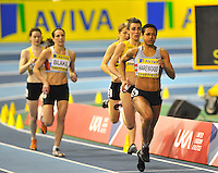 Photo: Paul Greenwood/Richard Lane Photography. Aviva World Trials & UK Championships. 14/02/2010. .Karen Harewood in the Womens 800m.