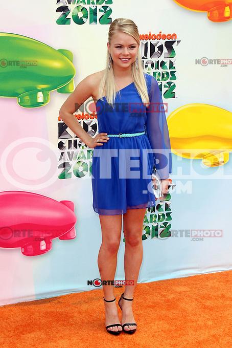 Kelli Goss at Nickelodeon's 25th Annual Kids' Choice Awards at The Galen Center on March 31, 2012 in Los Angeles, California. &copy; mpi26/MediaPunch Inc. /NortePhoto<br /> <br />  **CREDITO*OBLIGATORIO** *No*Venta*A*Terceros*<br /> *No*Sale*So*third* ***No*Se*Permite*Hacer Archivo***No*Sale*So*third*