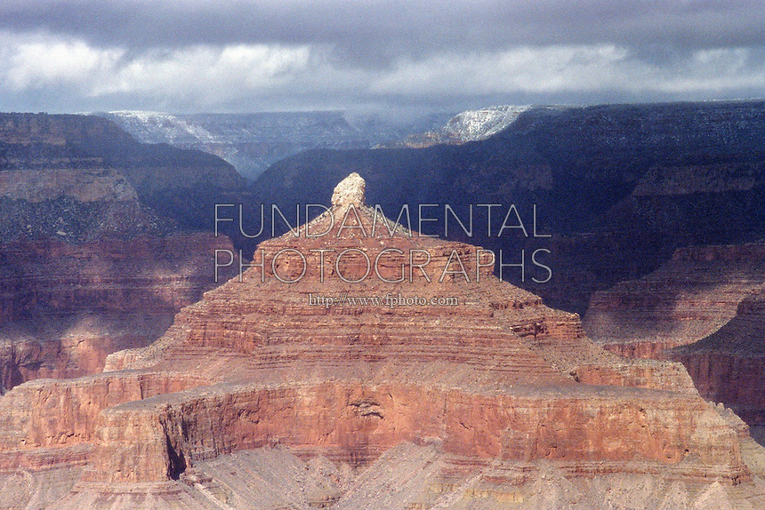 STORM OVER THE GRAND CANYON<br /> Storm Clouds Over The Grand Canyon<br /> Isis Temple