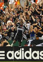 DC United forward Luciano Emilio (11) celebrates his goal in the 87th minute. DC United defeated Colorado Rapids 4-1, at RFK Stadium in Washington DC, Thursday, June 28, 2007.