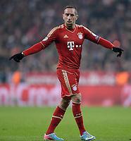 FUSSBALL  CHAMPIONS LEAGUE  VIERTELFINALE  HINSPIEL  2012/2013      FC Bayern Muenchen - Juventus Turin       02.04.2013 Franck Ribery (FC Bayern Muenchen)