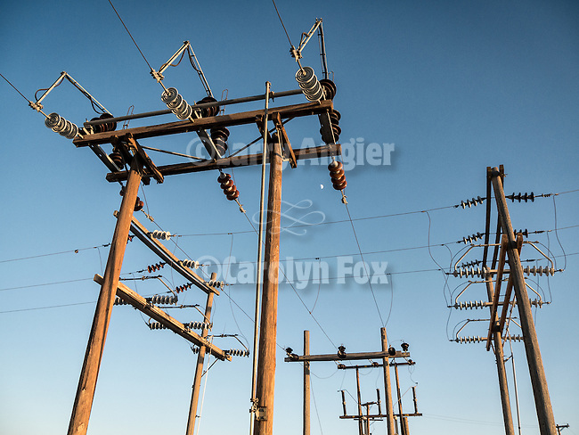 Power line junction, Alkali, Nev.