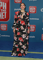 05 November 2018 - Hollywood, California - Mandy Moore &quot;Ralph Breaks The Internet&quot; Los Angeles Premiere held at El Capitan Theater. <br /> <br /> CAP/ADM/FS<br /> &copy;FS/ADM/Capital Pictures