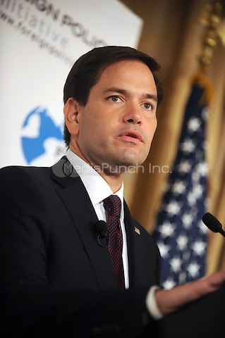 Republican presidential candidate Sen. Marco Rubio (R-FL) speaks with attendeees following a hosted by the Foreign Policy Initiative at the 3 West Club  on  August 14, 2015 in New York. Credit: Dennis Van Tine/MediaPunch