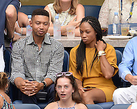 FLUSHING NY- SEPTEMBER 10: Allyson Felix is sighted watching Angelique Kerber Vs Karolina Pliskova during the womens finals on Arthur Ashe Stadium at the USTA Billie Jean King National Tennis Center on September 10, 2016 in Flushing Queens. Credit: mpi04/MediaPunch