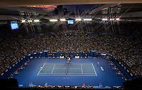 AMBIENCE shot of NOVAK DJOKOVIC (SRB) against RAFAEL NADAL (ESP) in the FINAL of the Men's Singles. Novak Djokovic Beat Rafael Nadal 5-7 6-4 6-2 6-7 7-5..29/01/2012, 29th January 2012, 29.01.2012 - Day 14..The Australian Open, Melbourne Park, Melbourne,Victoria, Australia.@AMN IMAGES, Frey, Advantage Media Network, 30, Cleveland Street, London, W1T 4JD .Tel - +44 208 947 0100..email - mfrey@advantagemedianet.com..www.amnimages.photoshelter.com.