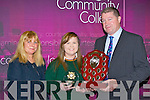 Edel O'Shea is presented the Student of the Year by Principal Con Moynihan at the Killorglin Community College awards on Thursday night with her mum Eileen O'Shea..