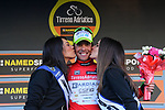 Mirco Maestri (ITA) Bardiani CSF takes over the Maglia Rossa sprint jersey at the end of Stage 4 of the 2017 Tirreno Adriatico running 187km from Montalto di Castro to Terminillo, Italy. 11th March 2017.<br /> Picture: La Presse/Gian Mattia D'Alberto  | Cyclefile<br /> <br /> <br /> All photos usage must carry mandatory copyright credit (&copy; Cyclefile | La Presse)