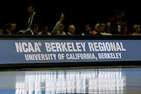BERKELEY, CA - MARCH 30: Scorer's table during Stanford's 84-66 win against the Ohio State Buckeyes on March 28, 2009 at Haas Pavilion in Berkeley, California.