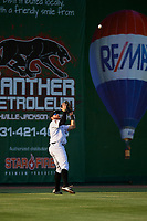 Jackson Generals left fielder Stewart Ijames (2) settles under a fly ball during a game against the Chattanooga Lookouts on April 29, 2017 at The Ballpark at Jackson in Jackson, Tennessee.  Jackson defeated Chattanooga 7-4.  (Mike Janes/Four Seam Images)
