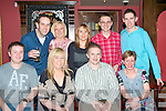 LEAVING PARTY: Eamonn Sinnott who is leaving Kerry Group Food Headquarters to work in Kerry Group Food UK enjoying a great time at his leaving party with work colleagues at the Blasket bar on Friday seated l-r: Brian O'Mahony, Annette Buckley, Eamonn Sinnott and Lisa Ryan. Back l-r: Aidan Kelliher, Anne Talbot, Anne Woods, Michal Fundowicz and John Conway..