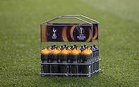 The Spurs players Europa drink bottles during the UEFA Europa League 2nd leg match between Tottenham Hotspur and Fiorentina at White Hart Lane, London, England on 25 February 2016. Photo by Andy Rowland / Prime Media images.