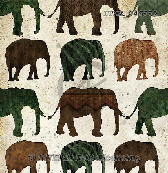 Isabella, MODERN, MODERNO,elphants,etnic paintings+++++,ITKE046552,#n# ,everyday