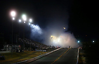 Jul. 25, 2014; Sonoma, CA, USA; NHRA Overall view of Sonoma Raceway during top fuel qualifying for the Sonoma Nationals. Mandatory Credit: Mark J. Rebilas-