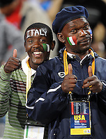 Local fans watch on before the game. Italy defeated USA 3-1 during the FIFA Confederations Cup at Loftus Versfeld Stadium, in Tshwane/Pretoria South Africa on June 15, 2009.